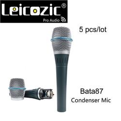 Leicozic Professional Super-cardioid Bata87A Vocals Studio  Microphone Wired Condenser Microphone Wire XLR Free Shipping