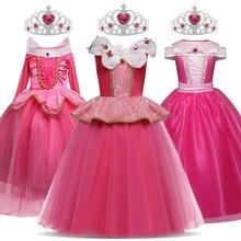 Meninas princesa traje crianças halloween carnaval festa de natal cosplay fantasiar-se crianças disfarce robe fille