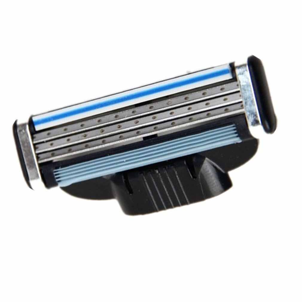 Man's Razor Manual Shaving Blades Beard Shaver Blade 3 Layers Men Sharp Razors Blade for Gilettee Fusion Power  Dropshipping