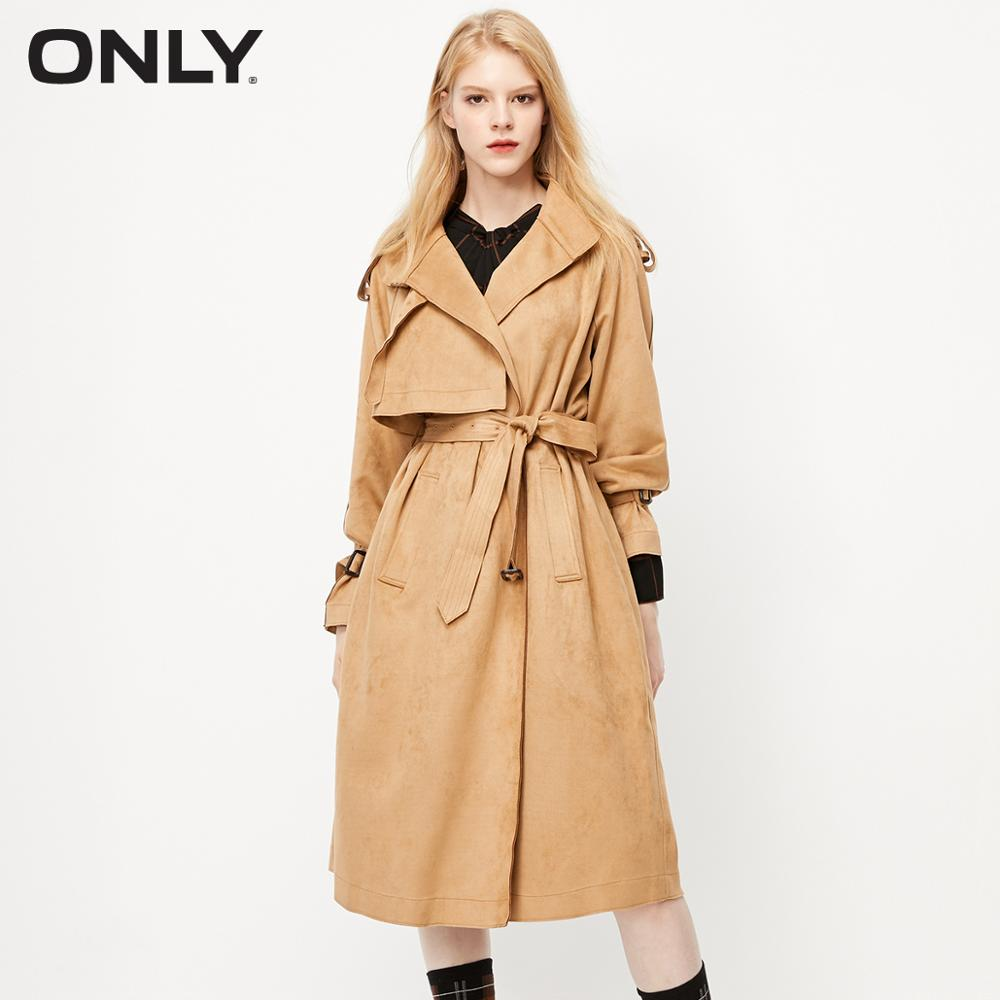 ONLY  Autumn Winter Women's Suede Trench Coat | 119336523
