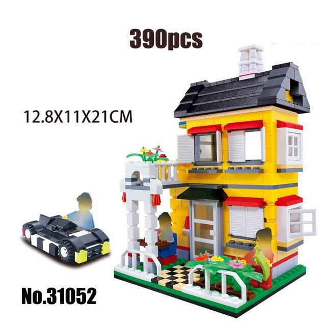 Городская архитектура вилла модель коттеджа Совместимость Legoingly друзья пляж хижина модульный дом деревенские строительные блоки детские игрушки - Цвет: 31052
