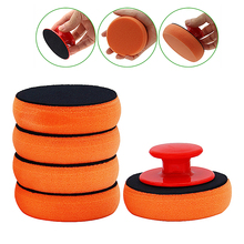 Deatailing Car Wash Wax Polish Pad Sponge Cleaning Tool Kit Waxing Applicator Pads Wiht Handle Car-Styling