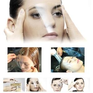 Image 1 - 50 100 pcs Women Supplies Disposable Face Hairspray Shield Film For Hair Salon Hair Cutting Face Protection Shield Mask