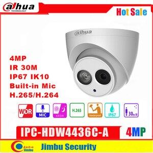 Image 1 - Сетевой видеорегистратор Dahua IP Камера 4MP IPC HDW4436C A IR50M H.265/H.264 Full HD Встроенные микрофон CCTV сеть Камера WDR (широкий динамический диапазон) мулли язык капельницы