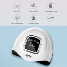 Nail-Lamp Manicure-Tools Gel-Polish Lcd-Display Portable 168W LED with Timer USB Auto-Sensor