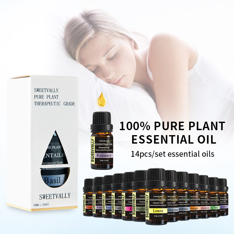 14pcs 10ml Essential Oils For Aromatherapy Diffusers Pure  Essential Oils Organic Body Relieve Stress Help Sleep Oil Skin Care