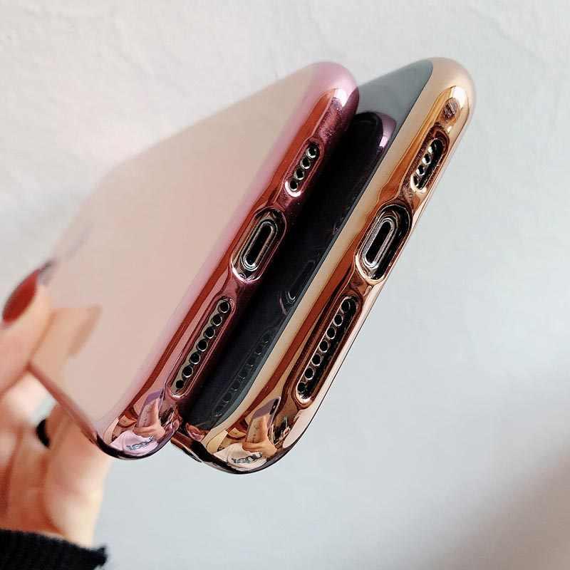 Moskado Cao Cấp Mạ Điện Trái Tim Ốp Lưng Điện Thoại Iphone 11 Pro Max X XS Max XR Mềm TPU Silicone cho iPhone 7 8 Plus