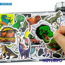 50pcs Cute Dinosaurs World Cartoon Kawaii Dino Scrapbooking Phone Laptop Car Stickers for Kids Toys Notebooks Stationery Sticker