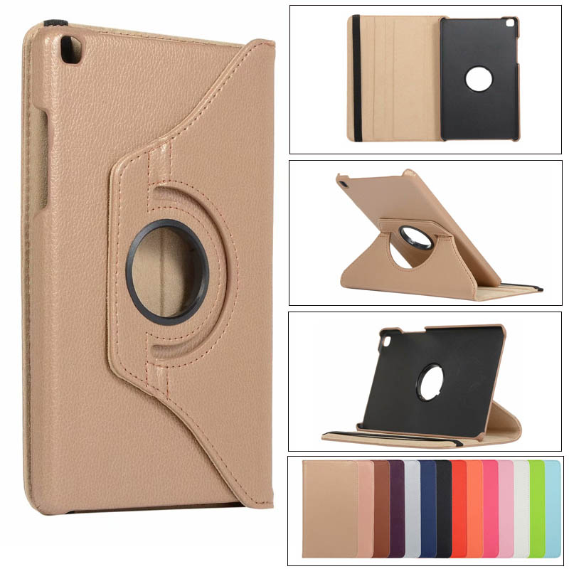 360 Degree Rotation Litchi Case For Samsung Galaxy Tab A 8.0 SM-T290 T295 Leather Stand Cover For Galaxy Tab A 8' T290 Case+film