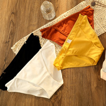 3pieces Low Waist cotton ladies briefs underwear panties for women sexy Comfort seamles Solid High Quality Low-rise female Panty(China)