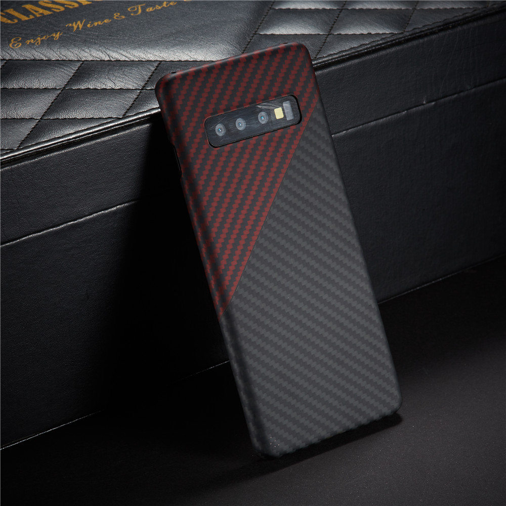 Carbon Fiber Protective Case For Samsung Galaxy S10 Plus Back Cover S10+ Shell Bumper Aramid Luxury Brand Disign