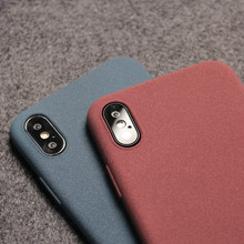 Gurioo Mobile Case Ultra-Thin Sandstone Case Back Cover Soft Scrub Cover For iPhone 11 Pro 6 6S 7 8 X XR XS Max Plus phone case protective phone back case for iphone 6 6s ultra thin tpu soft mobile shell with pattern