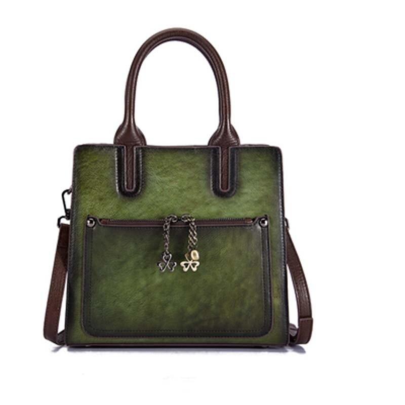Pyaterochka Berühmte Marke 2019 Trend Handtasche Frauen Aus Echtem Leder Luxus Casual Schulter Taschen Hohe Qualität Günstige Hand Tasche - 3