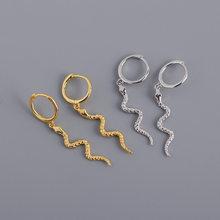 XIYANIKE 925 ayar gümüş sıcak satış yılan şekilli hayvan kolye Hoop küpe moda Retro muhteşem takı toptan hediye