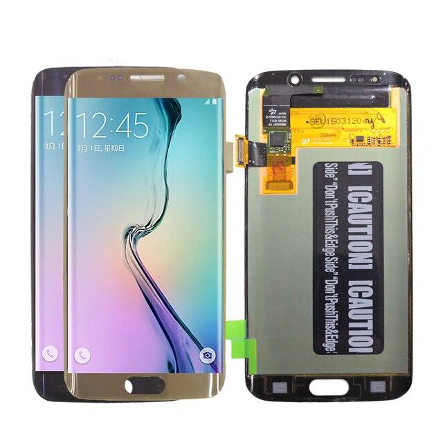 AMOLED תצוגה עבור SAMSUNG Galaxy S6 קצה LCD תצוגת G925 G925I G925F מגע מסך Digitizer טלפון חלקי מקורי OLED תצוגה