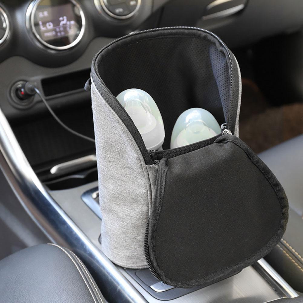 New Car mounted Double Bottle Warm Milk bag USB Milk Water Warmer Travel Stroller Insulated Bag