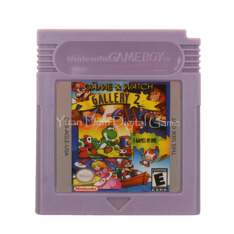 For Nintendo GBC Video Game Cartridge Console Card Game & Watch Gallery 2 English Language Version 1