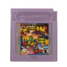 עבור Nintendo GBC וידאו משחק מחסנית קונסולת כרטיס משחק & שעון גלריה 2 גרסה בשפה אנגלית
