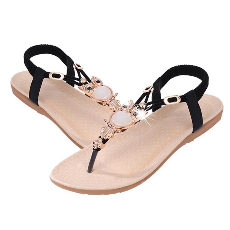 Fashion Sandals For Women Flat Summer Shoes Cartoon Owl Shoes Women's Sandals Sweet Brand Summer Footwear ZH2858