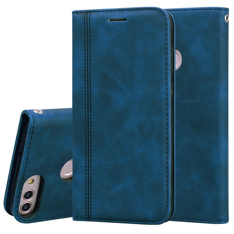 Para Huawei P FIG-LX1 Inteligente Caso Carteira De Couro Magnético Flip Espera Cartão de Caixa Do Telefone Para Huawei P 2018 Inteligente Psmart coque capa