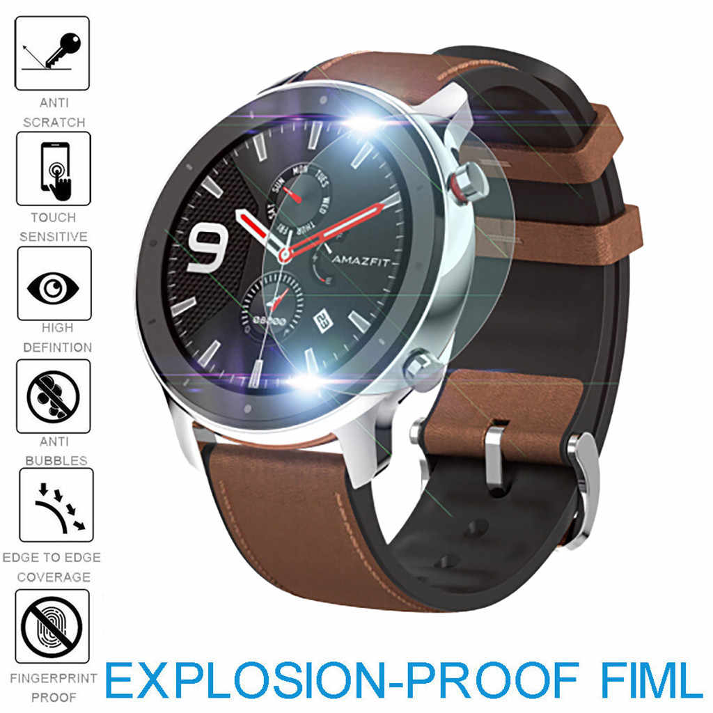 Smartwatch Smart Watch 5/3Pack Explosion-proof TPU Screen Protector Film For AMAZFIT GTR Smart Watch 47/42mm Watches Films Cover