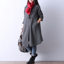 ZOGAA 2019 Autumn Vintage Women's Trench Coat Winter Warm Cotton Covered Button