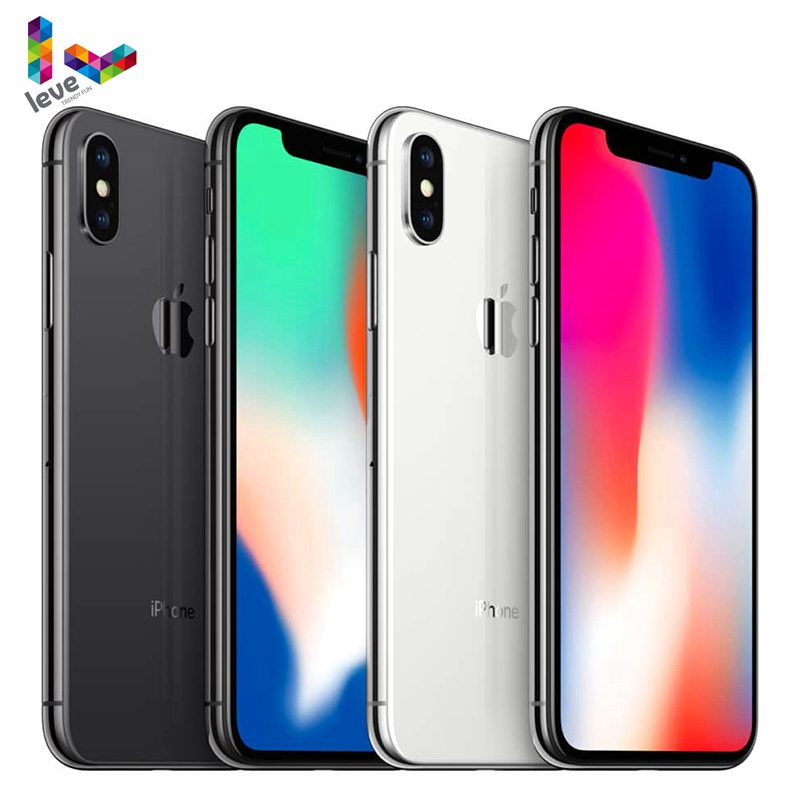 Apple iPhone X Face ID 64GB/256GB ROM 3GB RAM Hexa Core 5.8 inch iOS A11 12MP Dual Back Camera 4G LTE Unlocked Mobile Phones image