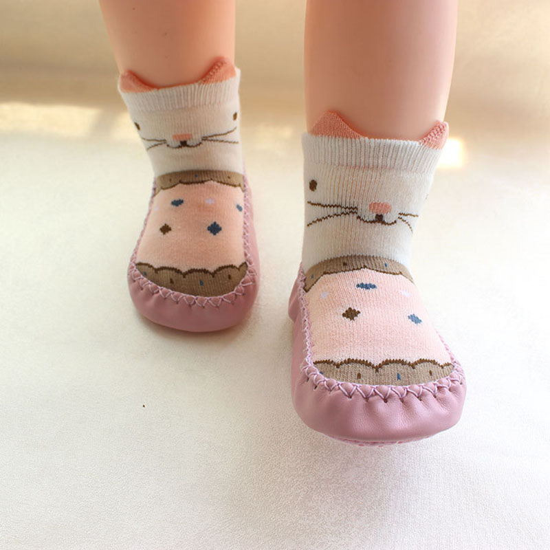 Cartoon Floor Socks Baby Children Thick Warm Toddler Shoes Non-slip Baby Boys And Girls Early Education Shoes And Socks