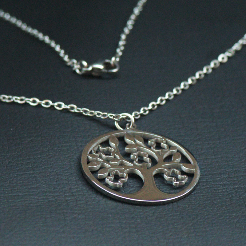 Fashion The tree of life Pendant Necklace Bear Pendant Hollow Out Accessories Bear Jewellery Set