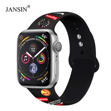 Soft Silicone Replacement Sport Band For Apple Watch 38mm 42mm Wrist Bracelet Strap For Apple Watch 4 band 44mm 40mm Series 5 3 цена и фото