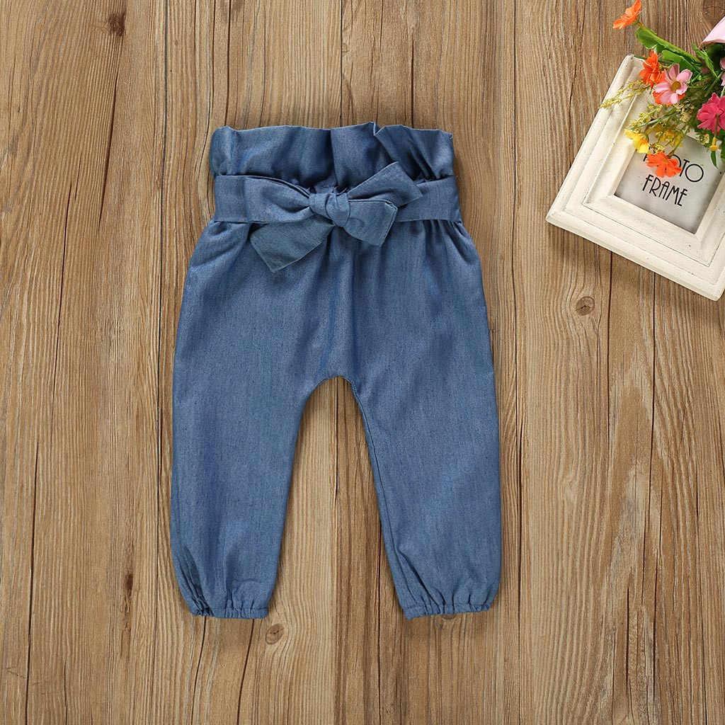 Sonbahar yeni bebek kız setleri giysi kıyafet katı uzun kısa Romper Bodysuit Denim pantolon kot kiti üst Dropshipping roupa infantil