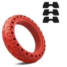 8.5 Polegada pneus de roda de borracha sólida com 3 pçs amortecedores de vibração para xiaomi m365/m365 pro scooter