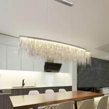 Modern Tassel Chandelier Nordic ceiling hanglamp Restaurant Luxury Hotel Engineering Chain Living room home Lighting fixtures