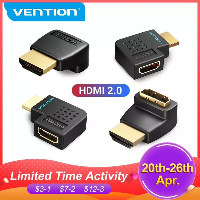 Vention HDMI адаптер 270 90 градусов правый угол HDMI штекер HDMI Женский конвертер для PS4 HDTV HDMI кабель 4K HDMI 2,0 удлинитель