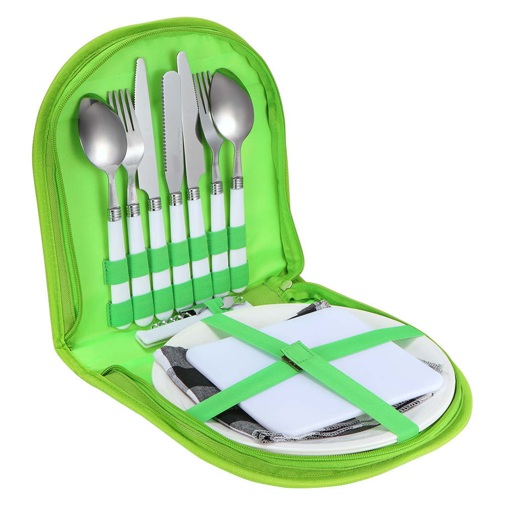 Acier inoxydable Couverts Set Camping Fourchette Couteau Cuillère bouteille openergift Ustensiles