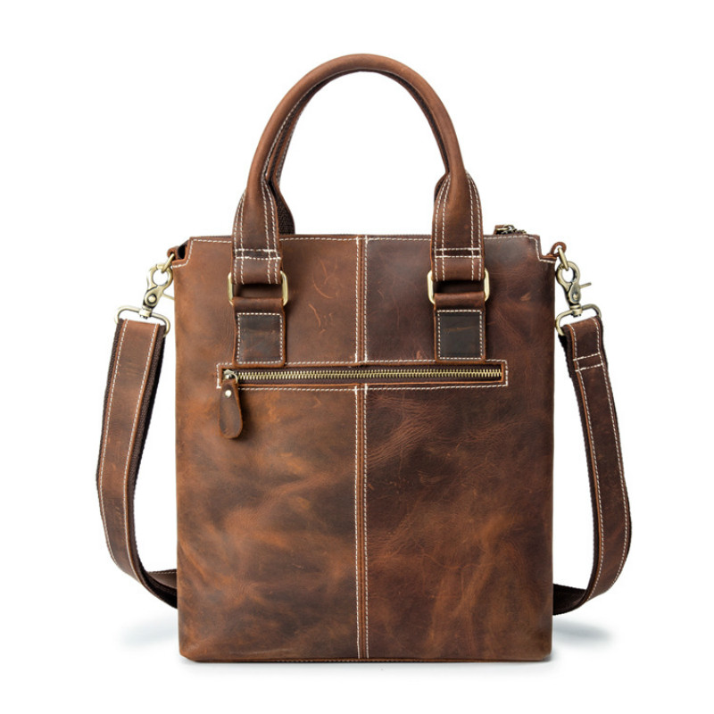 1PCS New Briefcase Head-layer Cowhide Hand-held Single-shoulder Bag, Hand-held, Hand-held, Hand-held, Hand-made