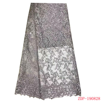 African sequins lace fabric 2019 high quality french tulle lace sequence glitter Swiss guipure bridal Nih Lace f190828