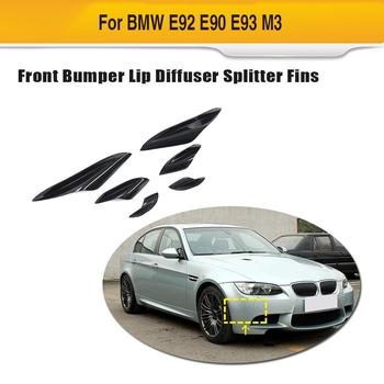 Car Front Bumper Splitters Fins For BMW 3 Series E92 E90 90 E93 M3 2015 - 2012 Front Body Bumper Wind Knife Splitters Fins ABS image