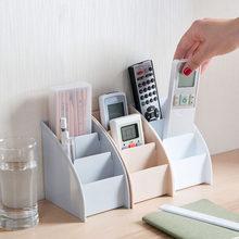 Neue 1PC TV Fernbedienung Halter Tee Tisch PP Lagerung Box 3 Gitter Büro Desktop Ordentlich Schreibwaren Veranstalter Rack