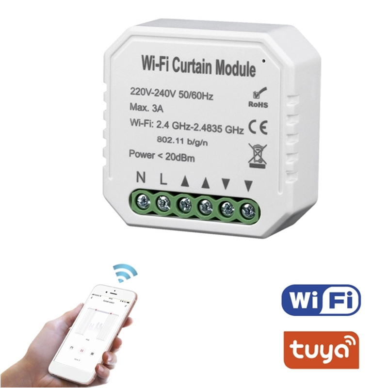 Tuya Smart Life WiFi Curtain Switch Module for Roller Shutter Electric Motor Google Home Alexa Echo Smart Home