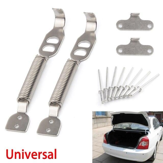 $ 8.17 2PCS Anto Car Racing Universal Multipurpose Boot Bonnet Alloy Clips Security Tunning Hood Lock Panel Spring Pin Kit Steel