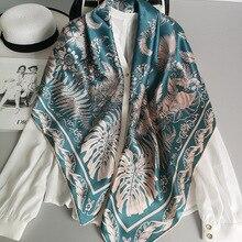 100% Pure Silk Satin Square Big Scarf Shawl Wrap Kerchief 43