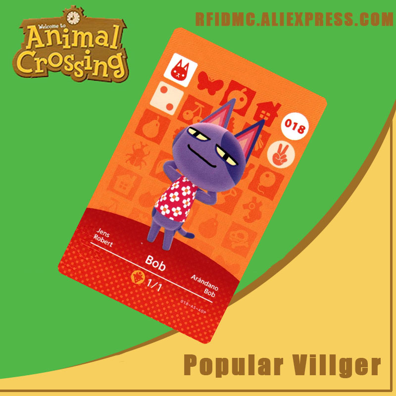 018 Bob Animal Crossing Card Amiibo For New Horizons