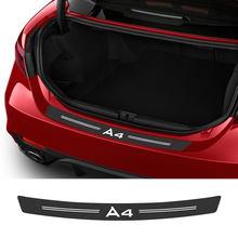 Autocollants de voiture en Fiber de carbone, pour Audi A4 B8 B6 B7 B9 Sedan 4.0 Tfsi S Line Avant Allroad, accessoires de voiture, autocollants de protection pour pare-choc et coffre