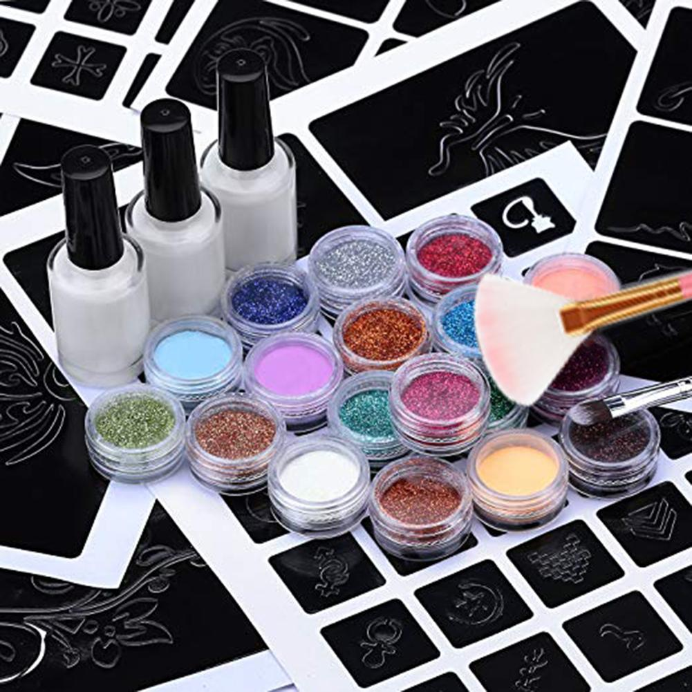 Tattoo Paint Set Non toxic Temporary Flash Tattoo Makeup Set with 24 Colors of Flash and 6 Fluorescent Colors for Halloween in Temporary Tattoos from Beauty Health