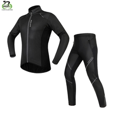 WOSAWE Cycling Jersey Set Winter Fleece Thermal Warm Bicycle Clothes Windproof ciclismo Waterproof Riding Bike Clothings
