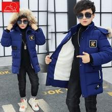 kids winter faux fur coat boys parkas jacket children hooded jacket clothing cotton kids warm oercoat outerwear