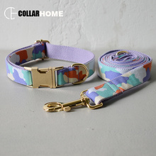 Nylon soft self-designed dog collar with bow tie walking rope training pet traction straps products good quality
