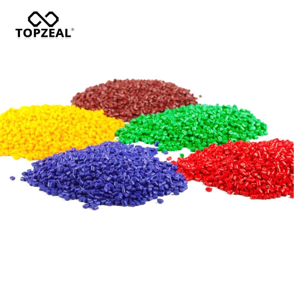 Filamento natural da impressora 3d das pelotas dos plásticos 1 kg para a impressão 3d pla da matéria prima de topzeal 100%/abs/tpu/petg/náilon