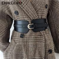 Luxury ladies wide belt elastic vintage buckle leather wide fashion wild pin buckle women's belt waist seal belt x208 1